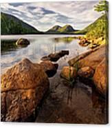 Jordan Pond Rocks Canvas Print