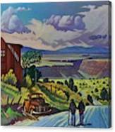 Journey Along The Road To Infinity Canvas Print