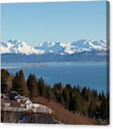 Kachemak Bay And Homer Alaska Canvas Print