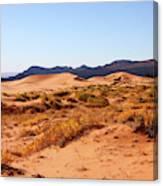 Kanab Coral Dunes Grasses Scrub Mountain Ridge 6780 Canvas Print