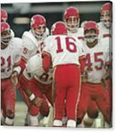 Kansas City Chiefs Offense Sports Illustrated Cover Canvas Print