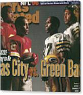 Kansas City Chiefs Vs Green Bay Packers, 1996 Nfl Football Sports Illustrated Cover Canvas Print
