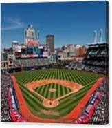 Kansas City Royals V Cleveland Indians Canvas Print