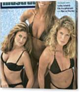 Kathy Ireland, Elle Macpherson, And Rachel Hunter Swimsuit Sports Illustrated Cover Canvas Print