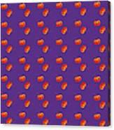 Kawaii Pumpkin Purple Canvas Print