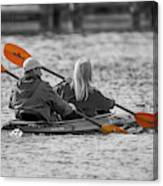Kayaking Along The Magothy Canvas Print