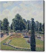 Kew Gardens - Path Between The Pond And The Palm House, 1892 Canvas Print