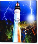 Key West Lightning Light House Canvas Print