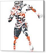 Khalil Mack Chicago Bears Pixel Art 1 Canvas Print