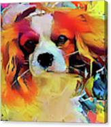 King Charles Spaniel On The Move Canvas Print