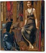 King Cophetua And The Beggar Maid 1884 Canvas Print