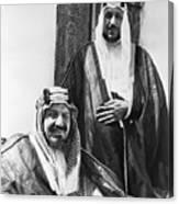 King Ibn Saud And Son Saud Aziz Canvas Print