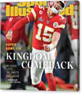 Kingdom Comeback Kansas City Chiefs, Super Bowl Liv Sports Illustrated Cover Canvas Print