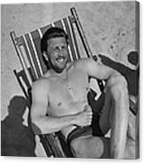 Kirk Douglas In 1950s Canvas Print