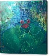 Kiss A Frog Canvas Print