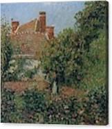 Kitchen Garden In Eragny, Afternoon, 1901 Canvas Print