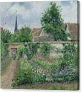 Kitchen Garden, Overcast Morning, Eragny, 1891  Canvas Print
