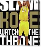 Kobe: Watch the Throne SLAM Cover Canvas Print