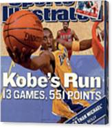 Kobes Run 13 Games, 551 Points Sports Illustrated Cover Canvas Print