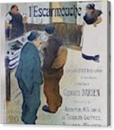 L Escarmouche, 1893 French Vintage Poster Canvas Print