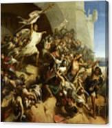 La Defense De L'ile De Rhodes Par Foulques De Villaret Canvas Print
