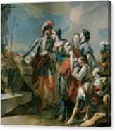 La Reina Zenobia Ante El Emperador Aureliano   Canvas Print