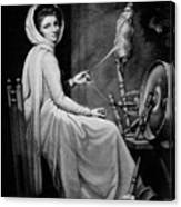 Lady Hamilton As The Spinstress Canvas Print