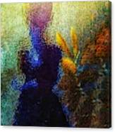Lady In The Garden Canvas Print