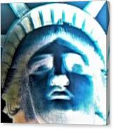 Lady Liberty In Negative Canvas Print