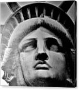 Lady Liberty Red White And Blue Canvas Print