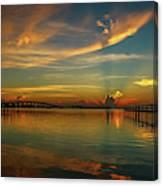 Lagoon Sunbeam Sunrise Canvas Print