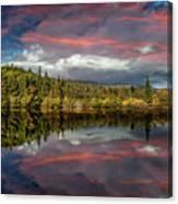 Lake Bodgynydd Sunset Canvas Print
