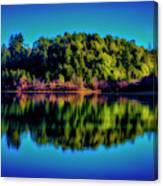 Lake Double Reflection Canvas Print