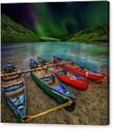 lake Geirionydd Canoes Canvas Print