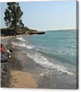 Lake Michigan Frankfort Mi Canvas Print