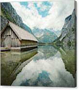 Lake Obersee Boat House Canvas Print