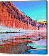 Lake Powell With Cliff Reflections Canvas Print