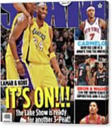 Lamar & Kobe: It's On!!! SLAM Cover Canvas Print