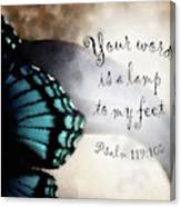 Lamp To My Feet Canvas Print