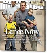 Lance Now Attacking His New Career Like He Did The Tour De Sports Illustrated Cover Canvas Print