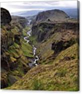 Landscape Of Canyon And River In Canvas Print