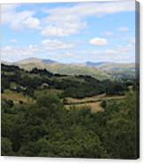 Landscape View From Little Langdale Canvas Print