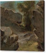 Landscape With Rocks  Augerville  Canvas Print