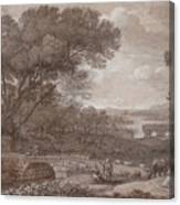 Landscape With The Rest On The F  Canvas Print