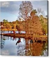 Langan Park Island Reflections Canvas Print