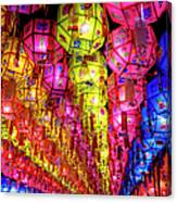 Lanterns Hanging Canvas Print