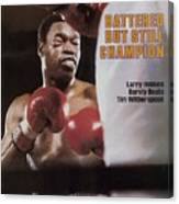 Larry Holmes, 1983 Wbc Heavyweight Title Sports Illustrated Cover Canvas Print