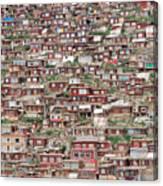 Larung Gar Five Sciences Buddhist Canvas Print