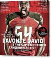 Lavonte David The Art And Math Of Tackling, 2015 Nfl Sports Illustrated Cover Canvas Print
