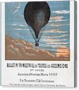 Le Ballon Aeronautical Journal, 1883 French Poster Canvas Print